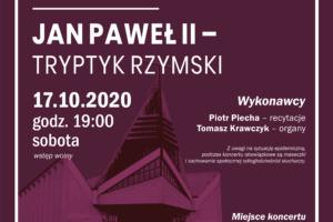 Zapraszamy na Koncert Mistrzejowicki 17.X.2020 r.